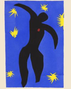 Henri MATISSE Jazz Planche VIII - Icare planche réalisée au pochoir d'après les collages et sur les découpages d'Henri Matisse Paris, Tériade éditeur, 1947 Musée Matisse, Nice Don des héritiers de l'artiste, 1963 Inv. n° 63.4.148.8