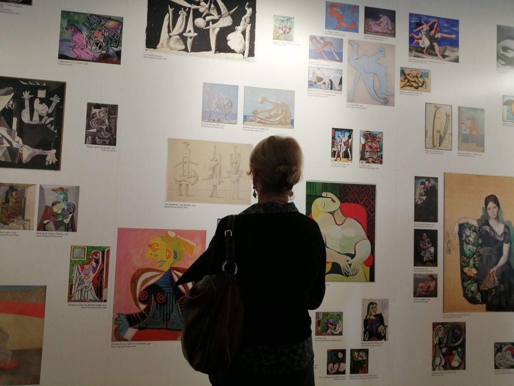 toiles de Picasso a l'exposition Imagine picasso, la sucriere lyon