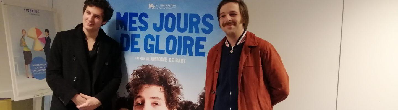 vincent lacoste et antoine de barry pour le film mes jours de gloire au cinema en mars 2020